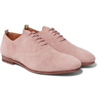 Officine Creative Cap Toe Suede Derby Shoes Lilac