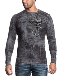 Affliction Reversible Thermal Thy Hunted Long Sleeve Shirt