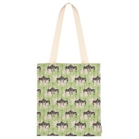 Fenella Smith Zebra And Palm Tree Linen Tote Bag