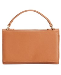 Giani Bernini Nappa Leather Smartphone Wallet Crossbody Only At Macy's Tobacco