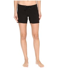Volcom Simply Solid 5 Boardshorts Black Women's Swimwear