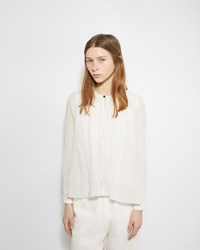 Pas De Calais Gathered Cotton Blouse White