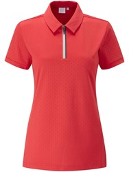 Ping Noa Short Sleeve Polo Red