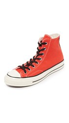 Converse Chuck Taylor 70S Varsity Wool Hi Top Sneakers Poppy Red