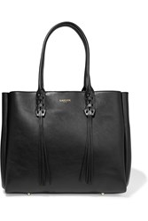 Lanvin The Shopper Small Leather Tote Black