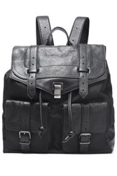 Proenza Schouler Ps1 Leather And Shell Backpack Black