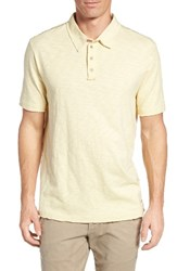 True Grit Men's Slub Jersey Polo Mellow Yellow