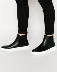 Asos Chelsea Boots In Black With Chunky Sole