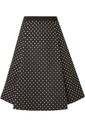 Draper James Polka Dot Jacquard Skirt Black