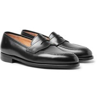 George Cleverley Bradley Leather Penny Loafers Black