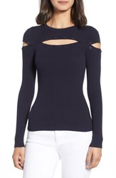 Bailey 44 Scholastic Cutout Sweater Midnight