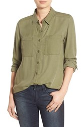 Women's Bp. Woven Twill Tunic Olive Burnt