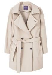 Mango Violeta By Piping Trenchcoat Beige
