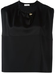 Paco Rabanne Panelled Top Black