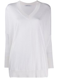 Agnona Relaxed Fit Jumper White