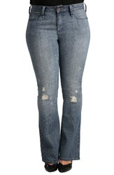 Standards And Practices Plus Size Women's Clarice Uptown Mid Rise Bootcut Jeans