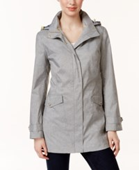 Charter Club Gingham Lined Hooded Anorak Jacket Only At Macy's Grey