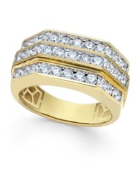 Macy's Men's Diamond Multi Level Ring 2 Ct. T.W. In 10K Gold White