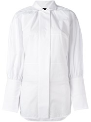 Ellery Puff Sleeve Shirt White