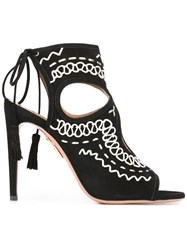 Aquazzura 'Sexy Thing Folk' Sandals Black