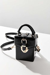 Urban Outfitters Maud Structured Mini Crossbody Bag Black