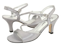 David Tate Beverly Silver Satin Women's Dress Sandals