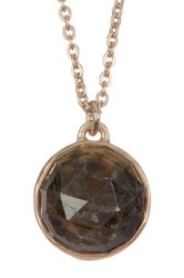 Melinda Maria Hunter Labradorite Pendant Necklace Green