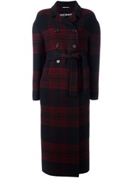 Rochas Double Breasted Coat Red