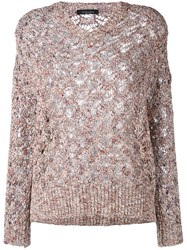 Roberto Collina Knitted Top Nude Neutrals