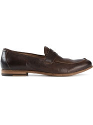 Pantanetti Classic Penny Loafers Brown