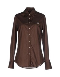 Fred Perry Shirts Shirts Women Dark Brown