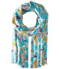 Pistil Sumi Scarf Turquoise Scarves Blue