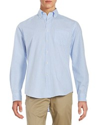 Duck Head Checkered Cotton Sportshirt Blue