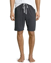 Kenneth Cole Drawstring Jersey Shorts Black Heather