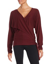 Ella Moss Brenna Wrap Cardigan Sweater Port