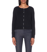 Claudie Pierlot Maxy Cotton Blend Cardigan Marine