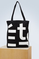 Etudes Studio October Logo Cotton Canvas Bag
