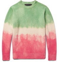 The Elder Statesman Degrade Cashmere Sweater Pink