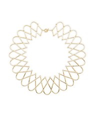 Noir Patterned Collar Necklace Gold