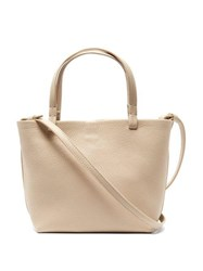 The Row Park Small Grained Leather Bag Cream