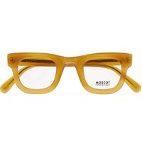 Moscot Fritz Round Frame Acetate Optical Glasses Brown