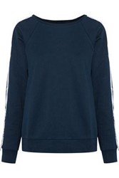 W118 By Walter Baker Parker French Cotton Blend Terry Sweatshirt Midnight Blue