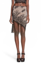 4Si3nna 43I3nna Lace Body Con Skirt Black