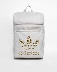 Adidas Originals Classic Backpack With Leopard Print Mghsolidgreymulti