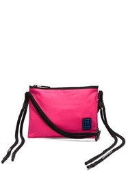 Off White Elongated Strap Cross Body Bag Pink