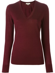 Michael Michael Kors V Neck Sweater Red