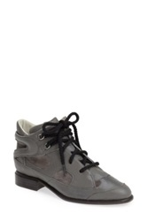 Plomo 'Penny' High Top Leather And Suede Sneaker Gray