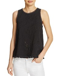 Generation Love Embellished Fringe Tank Black