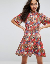 Rock And Religion Tea Dress Red Print