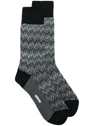 Missoni Zig Zag Knit Socks Black